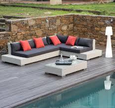 canap salon de jardin salon de jardin 6 places canapé d angle table basse en résine