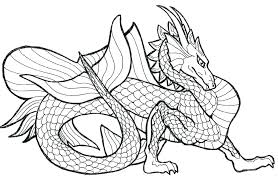 Printable Dragon Coloring Pages Adults Difficult