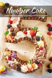 number cake perfekter geburtstagskuchen