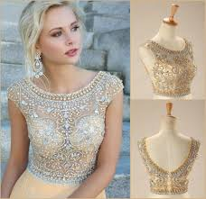 2015 evening gowns discount 2015 real in stock crystal champagne