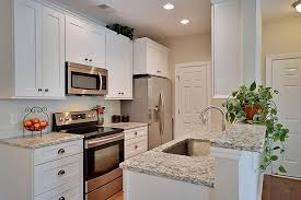 Kitchen Design Small Galley In Traditional Style With White Cabinet For Aerial Type