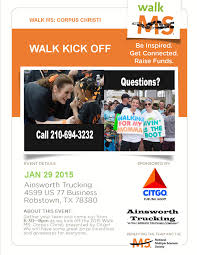Email - Walk MS Kick Off Tomorrow Night! - National MS Society Samson Trucking Llc Bolivar Missouri Facebook Cstruction Management Plan Energy Power Infrastructure Exit Partners Msgt William Cash Wc Ainsworth Jr Us Air Force Retired Texas Oil Gas Magazine Vol 6 Issue 2 Pages 1 48 Text Version Firemen Educate Students During National Fire Prevention Week My Spot On I10 712 Part 12 Colorado Freight Broker Directory Free Search Port Of Pasco Corpus Christi Callertimes Sharkathon Not Your Ordinary Fishing
