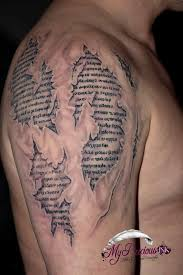 3D Skin Script Shoulder Tattoos In 2017 Real Photo Pictures Images And Sketches Tattoo Collections