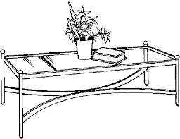 Coffee Table Drawing Furniture Clipart Pencil And In Color E
