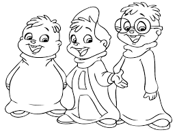 Coloring Pages For Children Printable Boys Alvin And The Chipmunks To Download