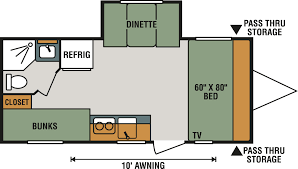 Travel Trailer Floor Plans With Bunk Beds by Travel Trailer Rv Inventory