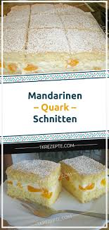 mandarinen quark schnitten mandarinen quark