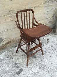vintage wood jenny lind high chair with tray by evenflo made 2 6