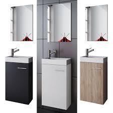 vcm waschplatz waschbecken schrank spiegel wc gäste toilette badmöbel klein schmal slito