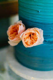 Featured Wedding Heather Jonathans Malibu Peacock ColorsOmbre CakeTeal