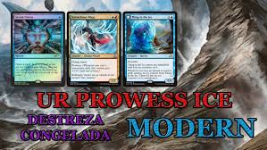 mtg modern deck ur prowess ice destreza congelada thing in the