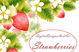 Strawberry clipart example image