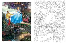 Amazon Disney Dreams Collection Thomas Kinkade Studios Coloring Book 0050837360075 Books
