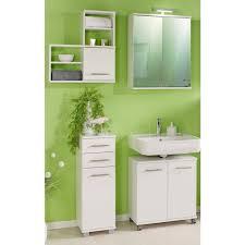 badezimmer möbel set 4tlg weiß anzio 04 mit led spiegelschrank b x h x t ca 144 6 x 200 x 32 6 cm