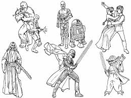 Free Printable Star Wars Coloring Pages Characters Kids