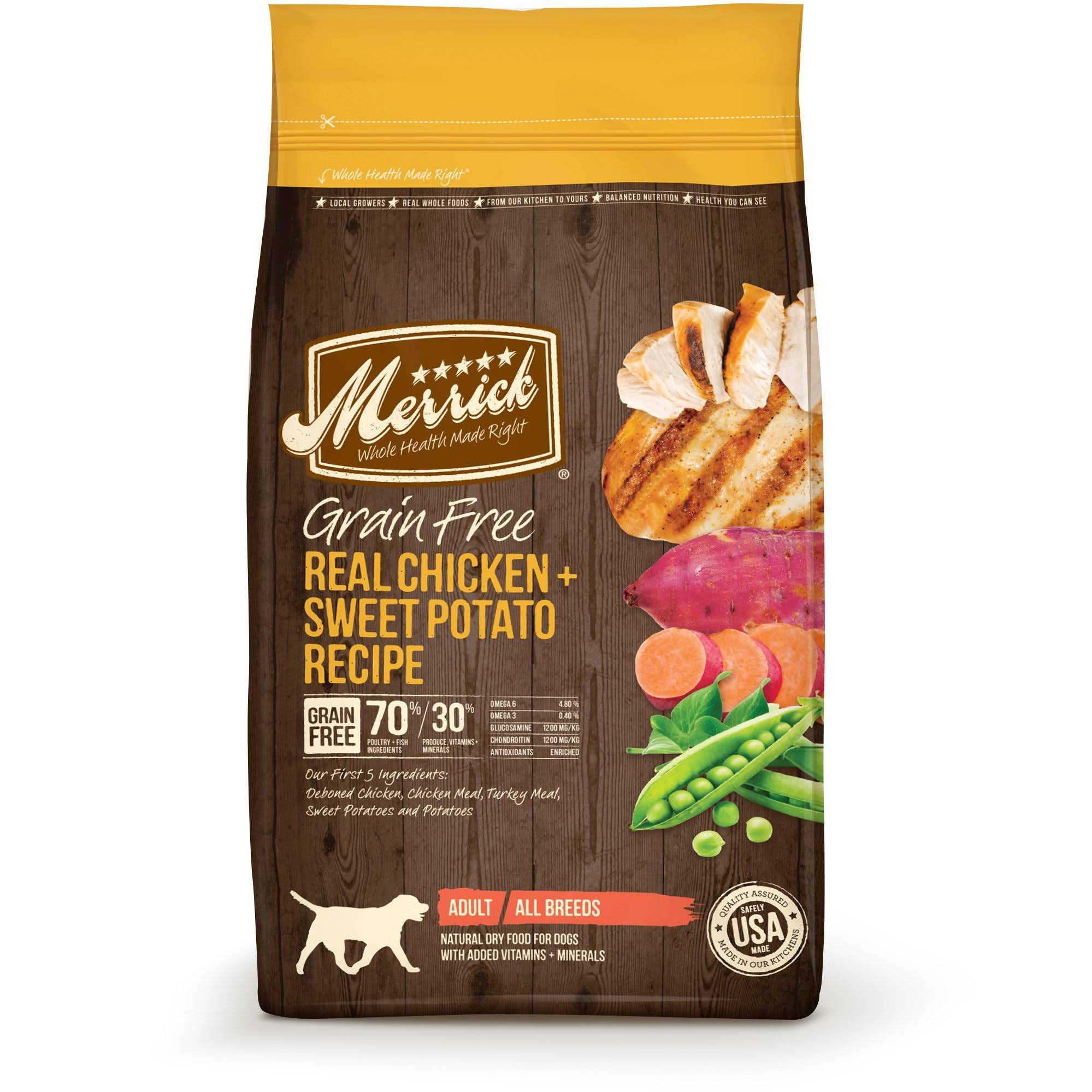 Merrick Grain Free Dry Dog Food - Real Chicken & Sweet Potato