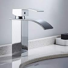 wrighteu waschtischarmatur waschbeckenarmatur mit wasserfall wasserhahn bad mischbatterie badarmatur für waschbecken spültisch badezimmer hoch aus