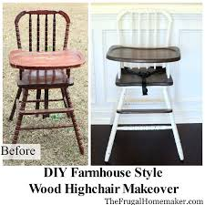 Jenny Lind High Chair Tray by Diy Farmhouse Style Wood High Chair Makeover