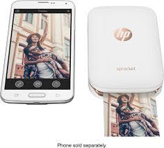 HP Sprocket Printer White X7N07A Best Buy