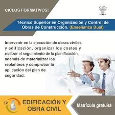 ÚLTIMAS PLAZAS CICLO SUPERIOR ORGANIZACIÓN Y CONTROL DE OBRA