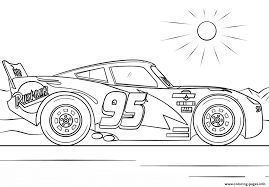 Lightning Mcqueen From Cars 4 Disney Coloring Pages