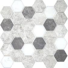 unglazed porcelain hex tile charcoal til699301 classic hexdark