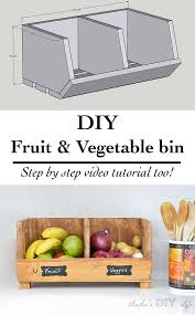 DIY Vegetable Storage Bin With Dividers Beginner Woodworking ProjectsTeds