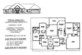 One Level House Plans With Basement Colors Pretty One Story Cottage Plans Images Single Level House Plans