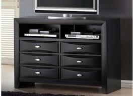 casa blanca 6 drawer black tv dresser cb2650