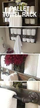 20 Rustic DIY And Handcrafted Accents To Bring Warmth Your Home Decor Pallet Towel RackRustic RackBathroom