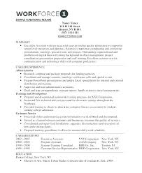 Sample Functional Resume Customer Service Representative Administrative Assistant Web Of Free For Ad