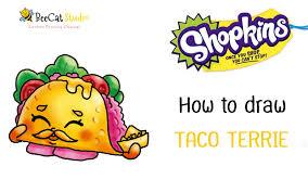 How to draw Shopkins season 3 Taco Terrie