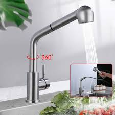 küchenarmatur edelstahl 360 drehbar ausziehbar wasserhahn mit brause spültischarmatur wasserhahn küche bad mischbatterie
