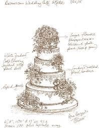 Our proposed custom wedding cake design