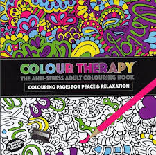 Colour Therapy Adults A4 Anti Stress Colouring Book 64 Pages