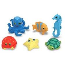 look at this zulilyfind land animal bath buddies toy set