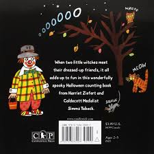Childrens Halloween Books Witches by Amazon Com Two Little Witches A Halloween Counting Story Sticker