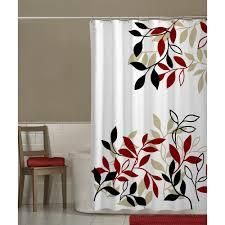 Small Bathroom Window Curtains Amazon by Amazon Com Maytex Mills Satori Fabric Shower Curtain Red Home
