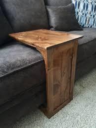 the handmade sofa end table with side storage slot make the shelf