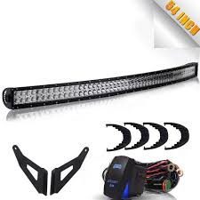 100 Light Bar For Trucks DoubleRow 54 312W Curved CREE LED Offroad Truck