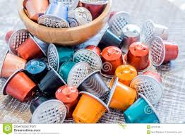 Download Used Coffee Pods Stock Photo Image Of Recycling Plastic