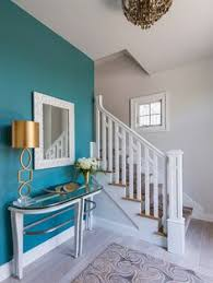 The Accent Wall Paint Color Is Benjamin Moore Mayo Teal CW 570 Remain Walls