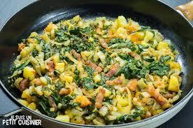 recette poêlée de blettes pommes de terre et lardons