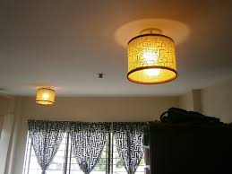 Drum Shaped Lampshades Looking In Synch With The Curtains