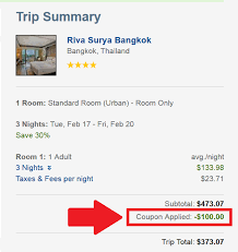 Travelocity 100 Off 350 Coupon Code Price Display