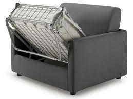 canapé lit 1 personne fauteuil convertible federica coloris gris foncé en pu vente de