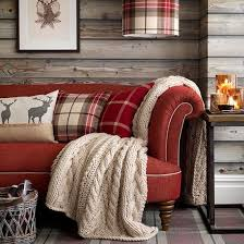 Rustic Living Room With Tartan Accessories