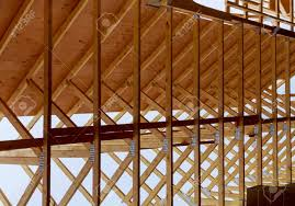 100 House Trusses Construction With Wood Framing Roof Trusses Under Construction