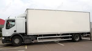 100 Articulated Trucks Large White Lorry On A Parking Lot Stock Photo Picture