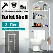 wc regal in badezimmer ablagen schalen körbe günstig
